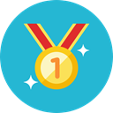 medal, 2 LightSeaGreen icon