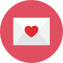 love, Letter IndianRed icon