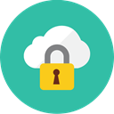 locked, Cloud LightSeaGreen icon