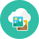 images, Cloud LightSeaGreen icon