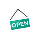 open, sign Black icon