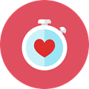 watch, Heart IndianRed icon