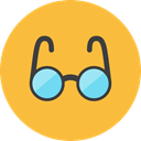 Eyeglass SandyBrown icon