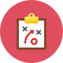 Clipboard, plan IndianRed icon