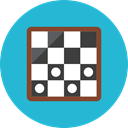 Chessboard LightSeaGreen icon