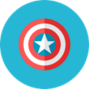Captain, shield LightSeaGreen icon