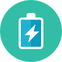 Battery, charging LightSeaGreen icon