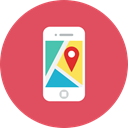 Application, Map IndianRed icon