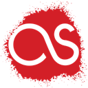 Spray, Fm, Last, set, Social, media, colour Crimson icon