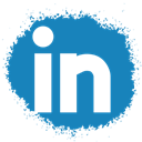 Linkedin, Spray, media, colour, set, Social SteelBlue icon
