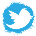 Spray, set, twitter, Social, colour, media DodgerBlue icon