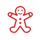 gingerbread, lebkuchenmann, Man, gingerbread-man, christmas, weihnachten, x-mas Black icon