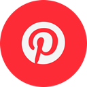 pinterest, Logo Crimson icon