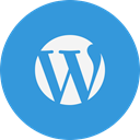 Logo, Wordpress DodgerBlue icon