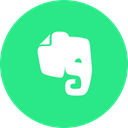 Logo, Evernote SpringGreen icon