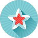 Full, rating, rate, star, Favorite, Like, bookmark SkyBlue icon