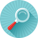 magnifying, zoom, search, glass, Find Icon