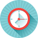 Alarm, date, Clock, day, operation, timer SkyBlue icon