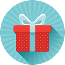 present, christmas, Box, gift, birthday SkyBlue icon