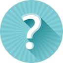 Faq, help, question, problem, Ask, support SkyBlue icon