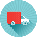 transport, Shipping, Car, truck, Delivery, ecommerce, moving SkyBlue icon