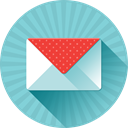 Message, mail, Letter, Email SkyBlue icon