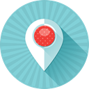 Map, marker, pin, Address, Coordinates, location, Gps SkyBlue icon