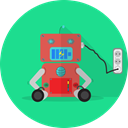 technology, Android, Mascot, space, robotic, robot expression, robot chargers, mechanical, metal, robot MediumSpringGreen icon