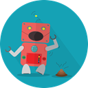 robot expression, Mascot, Android, smell, metal, space, technology, mechanical, robotic, robot LightSeaGreen icon