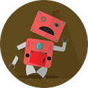 robot, Broken, metal, mechanical, technology, Android, robot expression, Mascot, space, robotic, turn off DarkOliveGreen icon