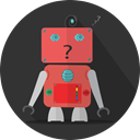 metal, technology, robot, space, turn off, Mascot, Android, mechanical, robotic, robot expression DarkSlateGray icon