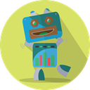 robotic, fun robot, technology, robot expression, metal, Mascot, space, robot, Android, mechanical Khaki icon