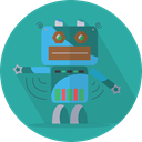 robot, Mascot, Android, metal, robot expression, technology, space, mechanical, robotic LightSeaGreen icon