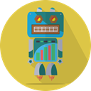 metal, Android, space, Mascot, Launch, robot, robot expression, robotic, mechanical, technology SandyBrown icon