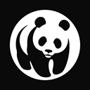 wwf, World wide fund for nature Black icon