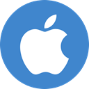 Apple, ios SteelBlue icon