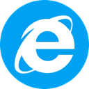 Explorer, microsoft, Browser, internet DeepSkyBlue icon