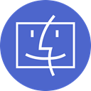 Macintosh, mac, Os RoyalBlue icon