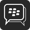 Blackberry, Bbm DarkSlateGray icon