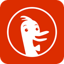 search, engine, Duckduckgo, Duck duck go OrangeRed icon