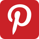 pin, pinterest Firebrick icon