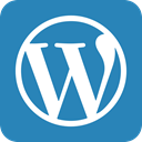 Wordpress, word press SteelBlue icon