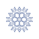 Flake, Snow Black icon
