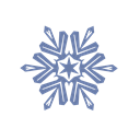 Snow, Flake Black icon
