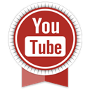 Social, Ribbon, youtube Firebrick icon