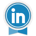 Ribbon, Social, Linkedin SteelBlue icon