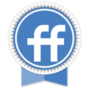 Friendfeed, Social SteelBlue icon