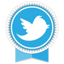 Social, Ribbon, twitter DodgerBlue icon