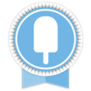 Fancy, Social, Ribbon SkyBlue icon