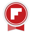 Ribbon, Social, Flipboard Firebrick icon